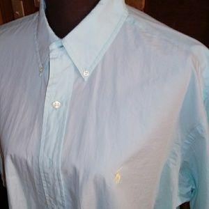 Ralph Lauren Short Sleeve Aqua Blue Dress Shirt